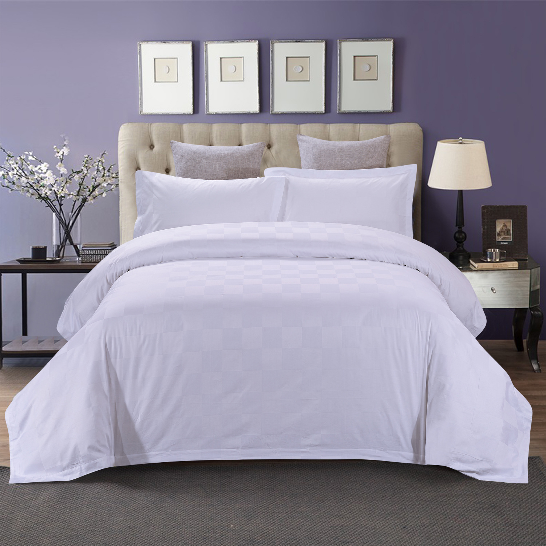 君芝友酒店用品賓館酒店床上用品四件套全棉純色貢緞4件套床單被套床品JZY-0008