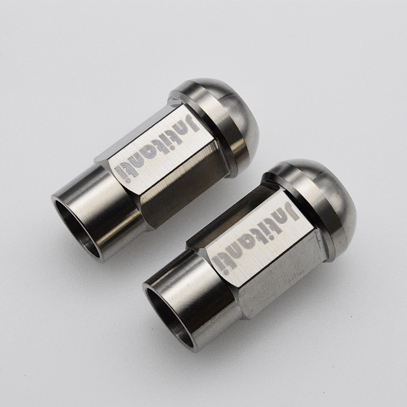 Ball seat open-end Gr.5 titanium auto lug nut