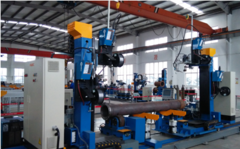 Four Torch Pipe & Flange Welding Station