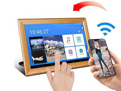 "10.1"" WiFi Cloud Digital Photo Frame OEM factory built in speaker remote control"