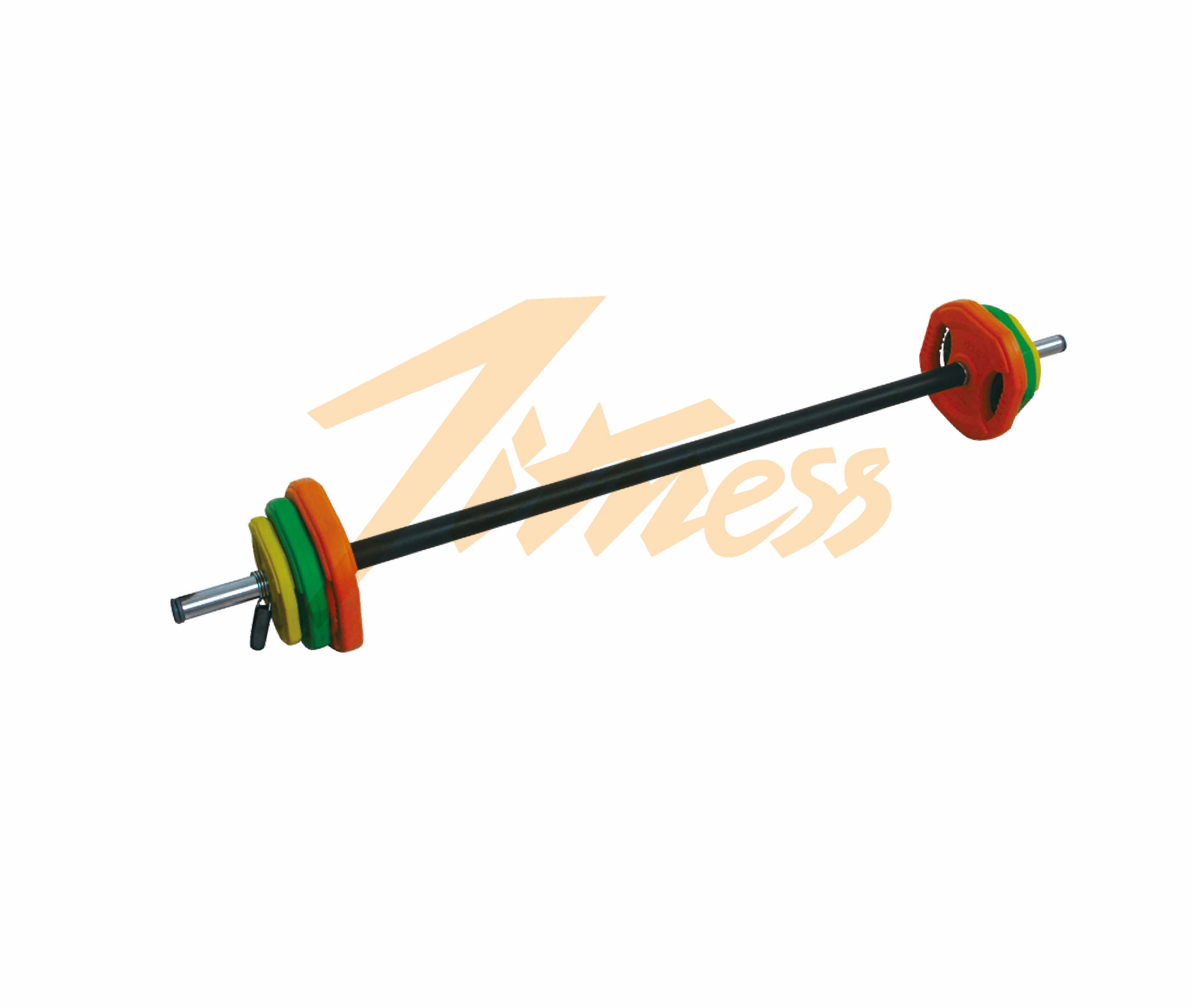 20KG COLOR RUBBER BARBELL SET