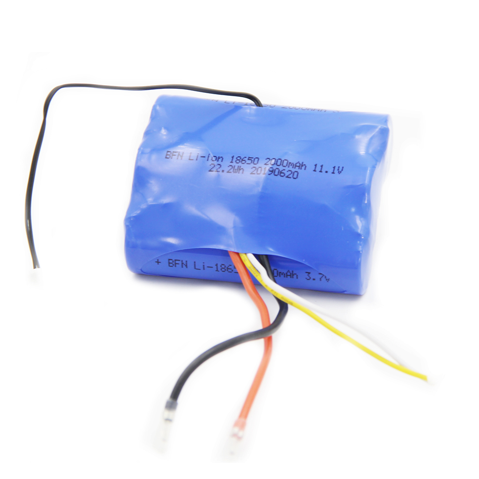 High power 3S1P 18650 2000mAh 11.1V Lithium ion battery pack for juicer
