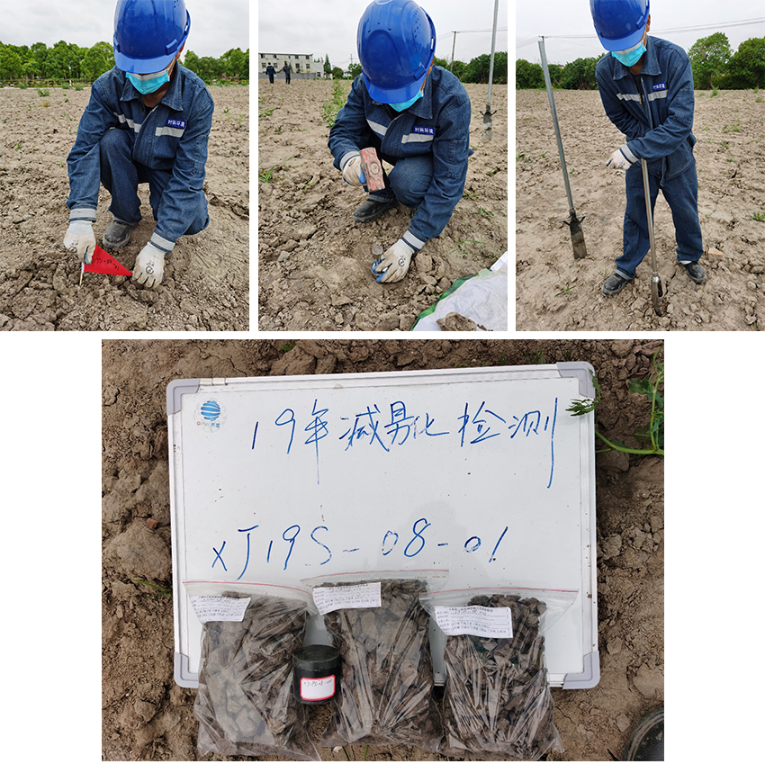 梅隴鎮某B地塊土地整理復墾(減)土壤檢測項目