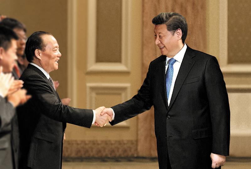 中共中央总书记、国家主席习近平,于2016年1月20日在埃及开罗亲切接见集团董事局主席张毓强。