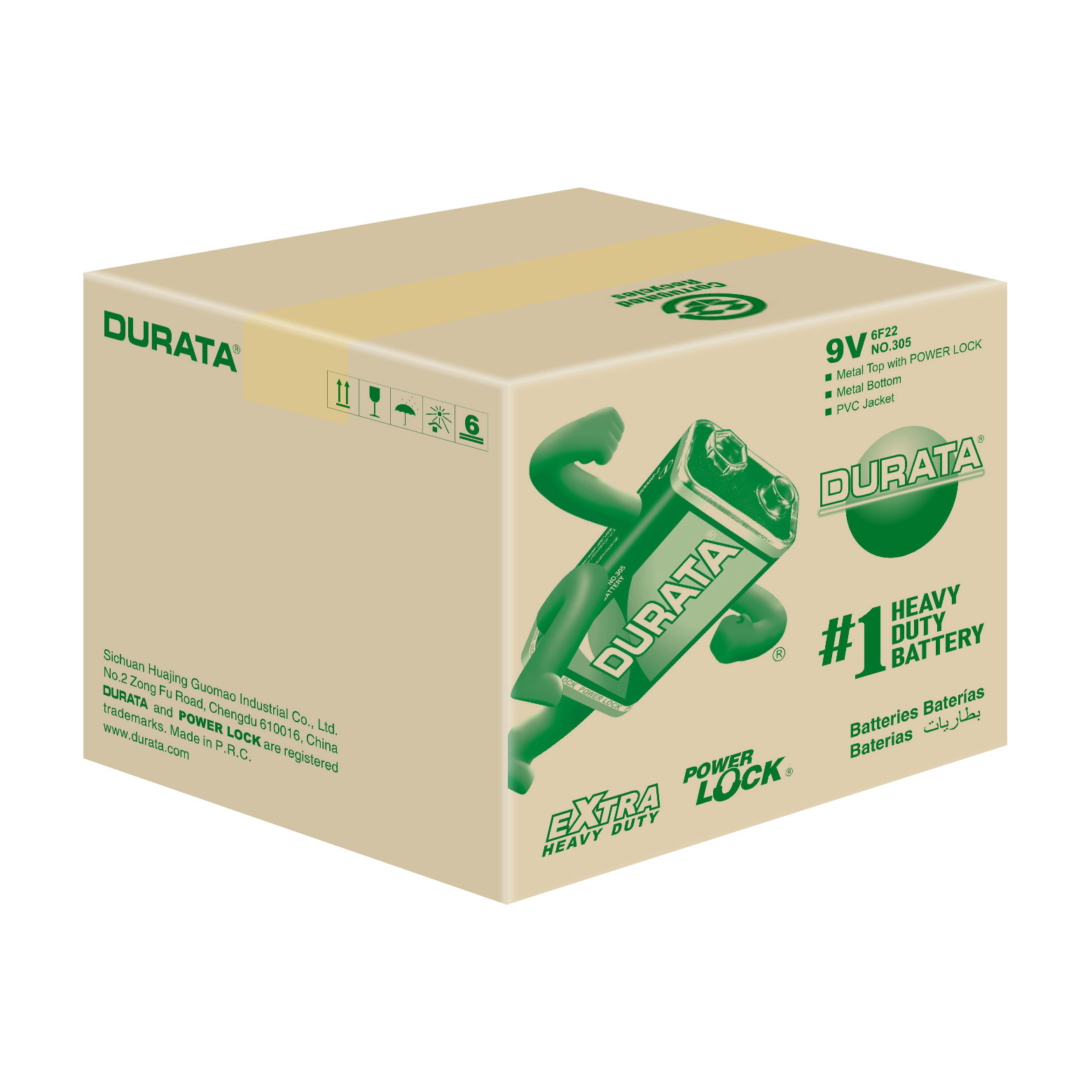 DURATA 9V - Shrink Pack 1 Battery - CTN