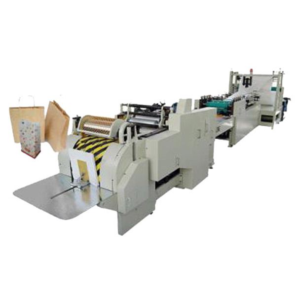 Square bottom paper bag making machine