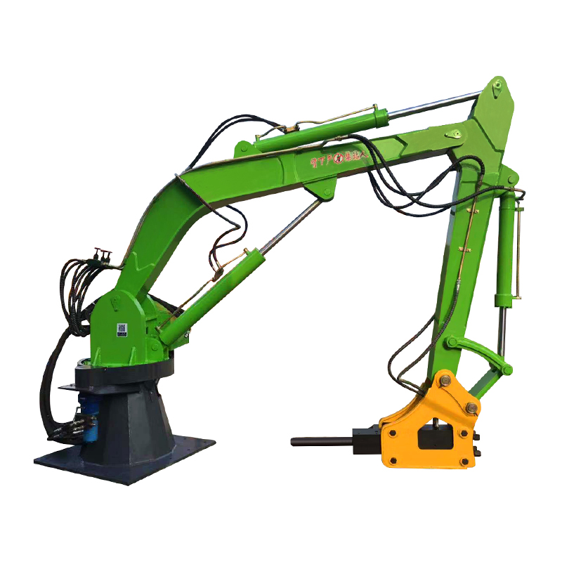 Electronically controlled hydraulic crushing mechanical arm