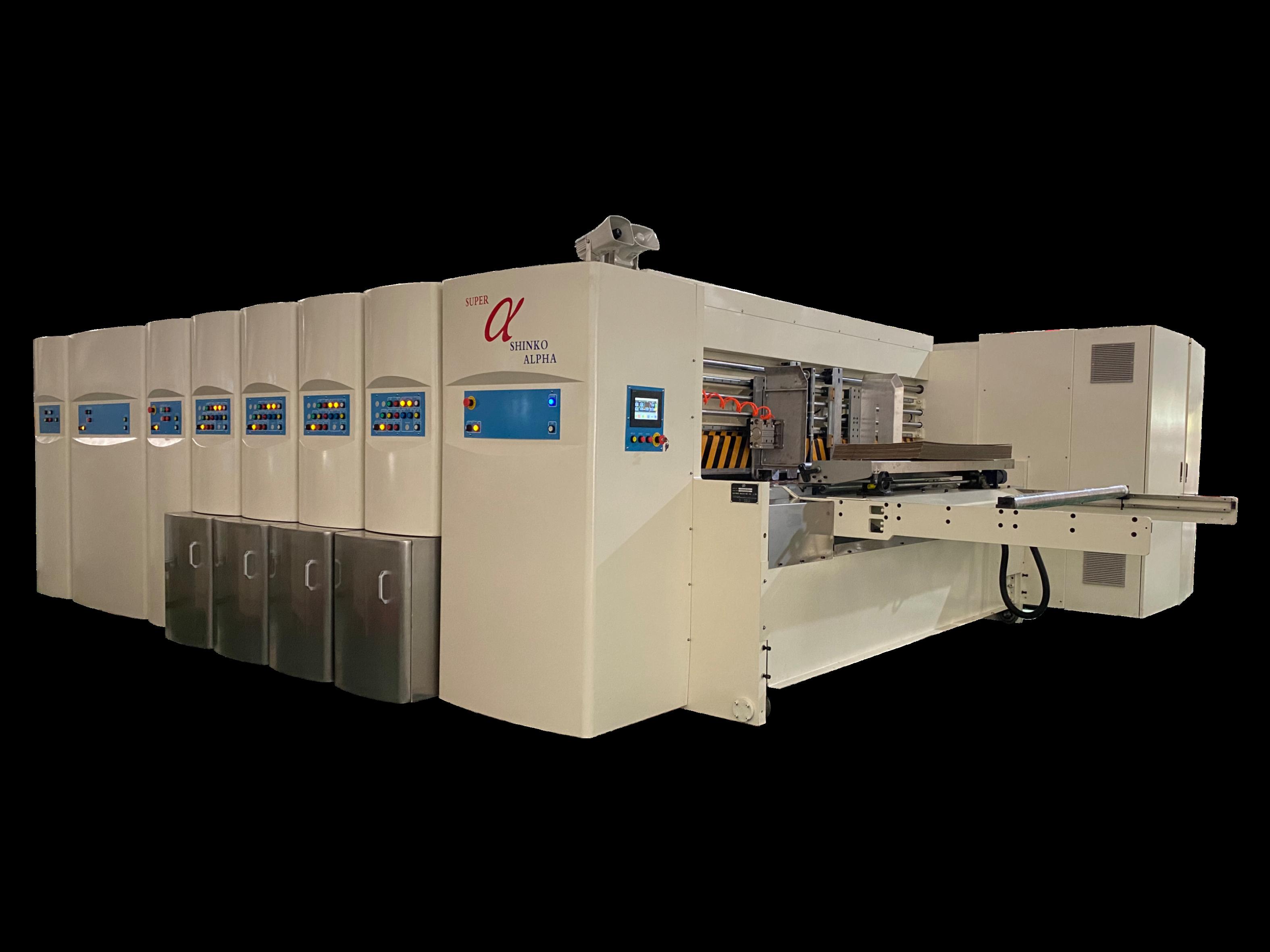 Sα-型移動式全伺服水性印刷開槽模切機