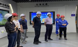 中國水務副總徐俊成調研溫嶺公司