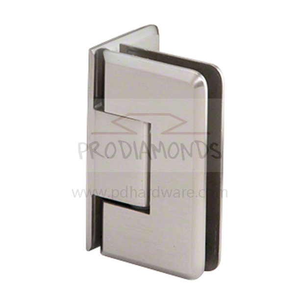 Heavy Duty Beveled Edges Wall Mount Offset Back Plate Shower Door Hinge
