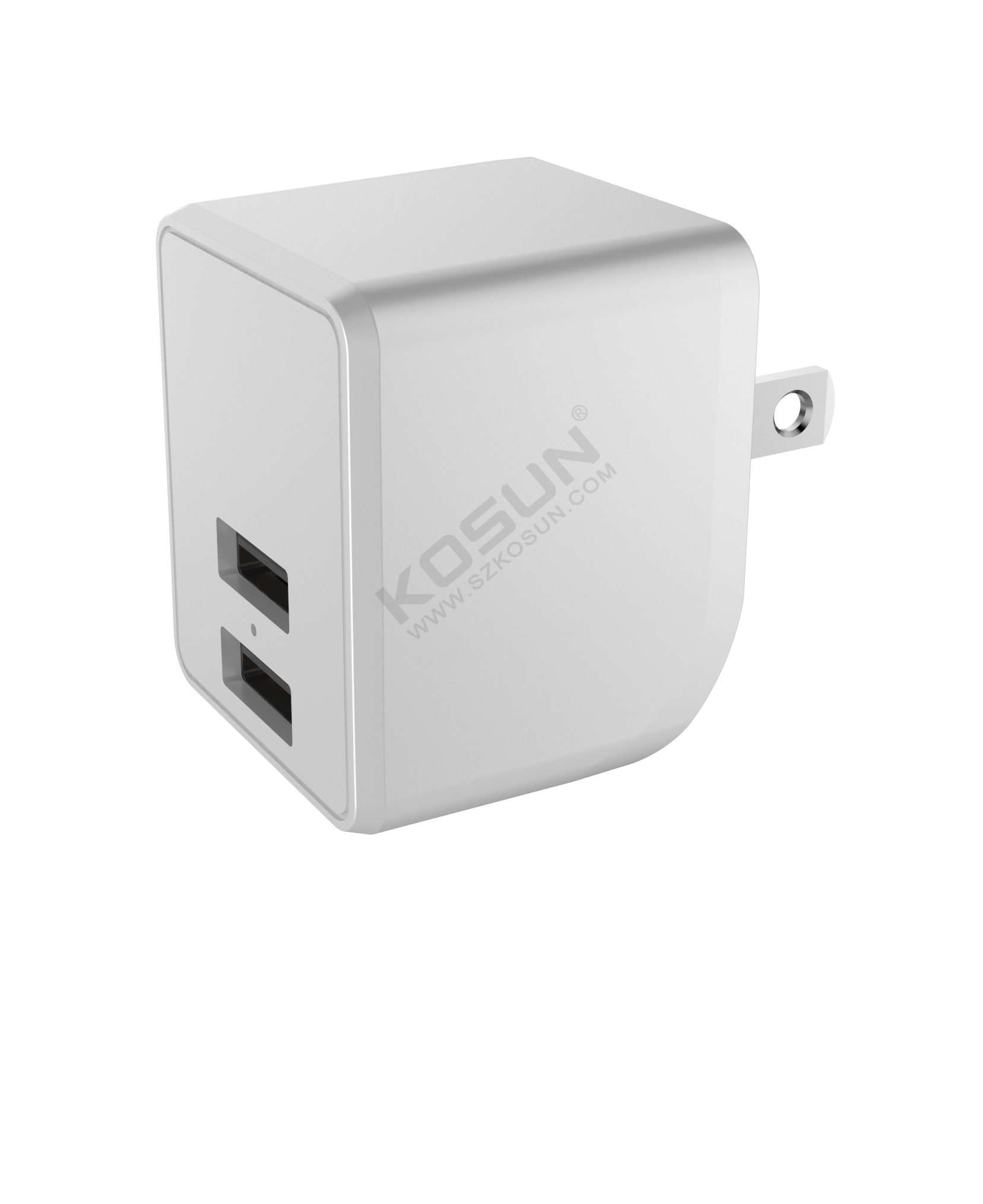 5V/2.4A Dual USB Foldable Prong Wall Charger