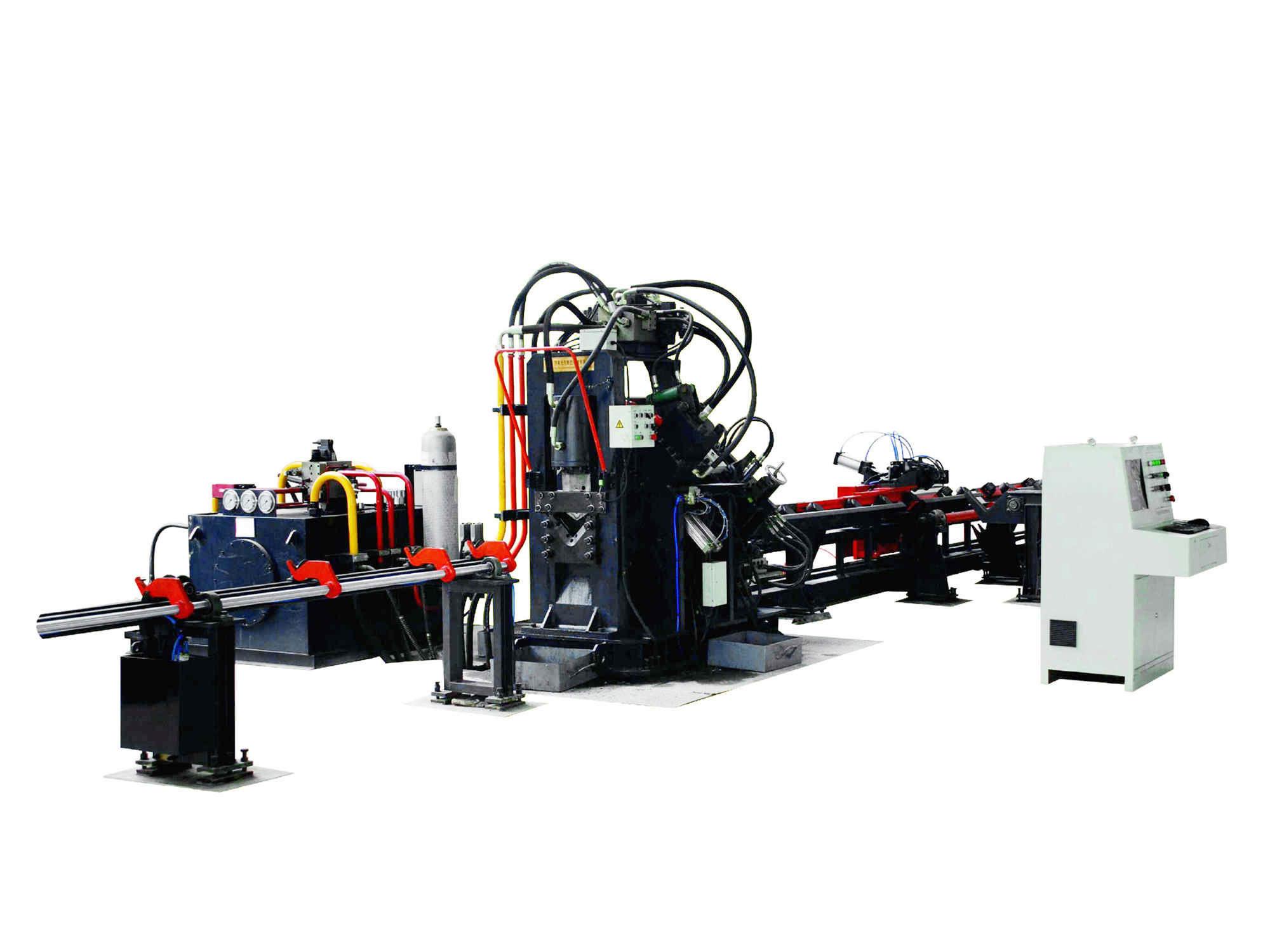 角钢冲孔生产线出口品质角钢线选济南光先JNC系列数控角钢生产线