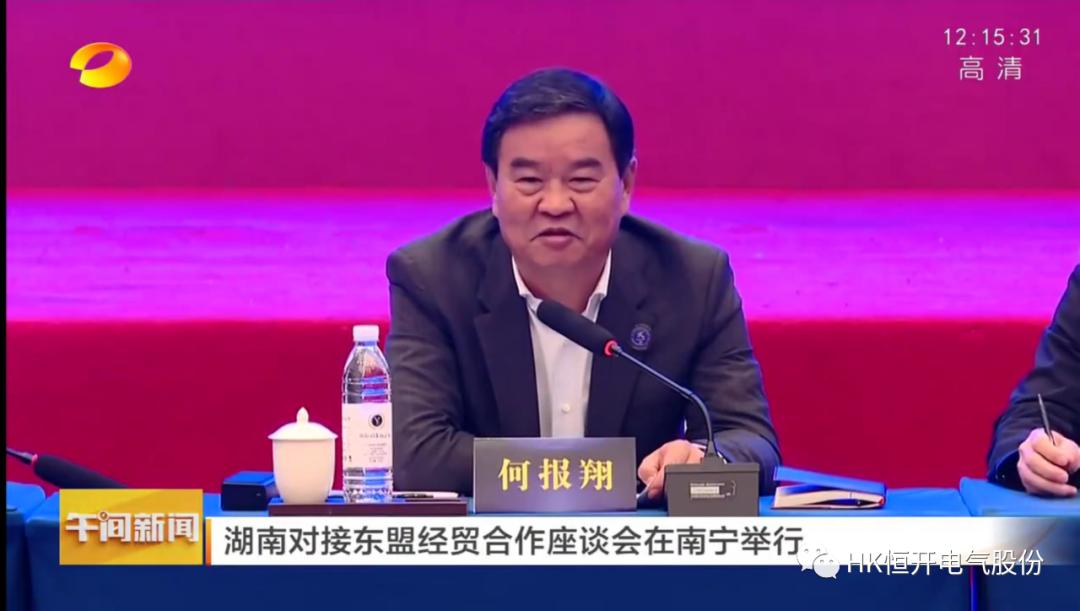 恒开电气董事长李桂平出席湖南对接东盟经贸合作座谈会