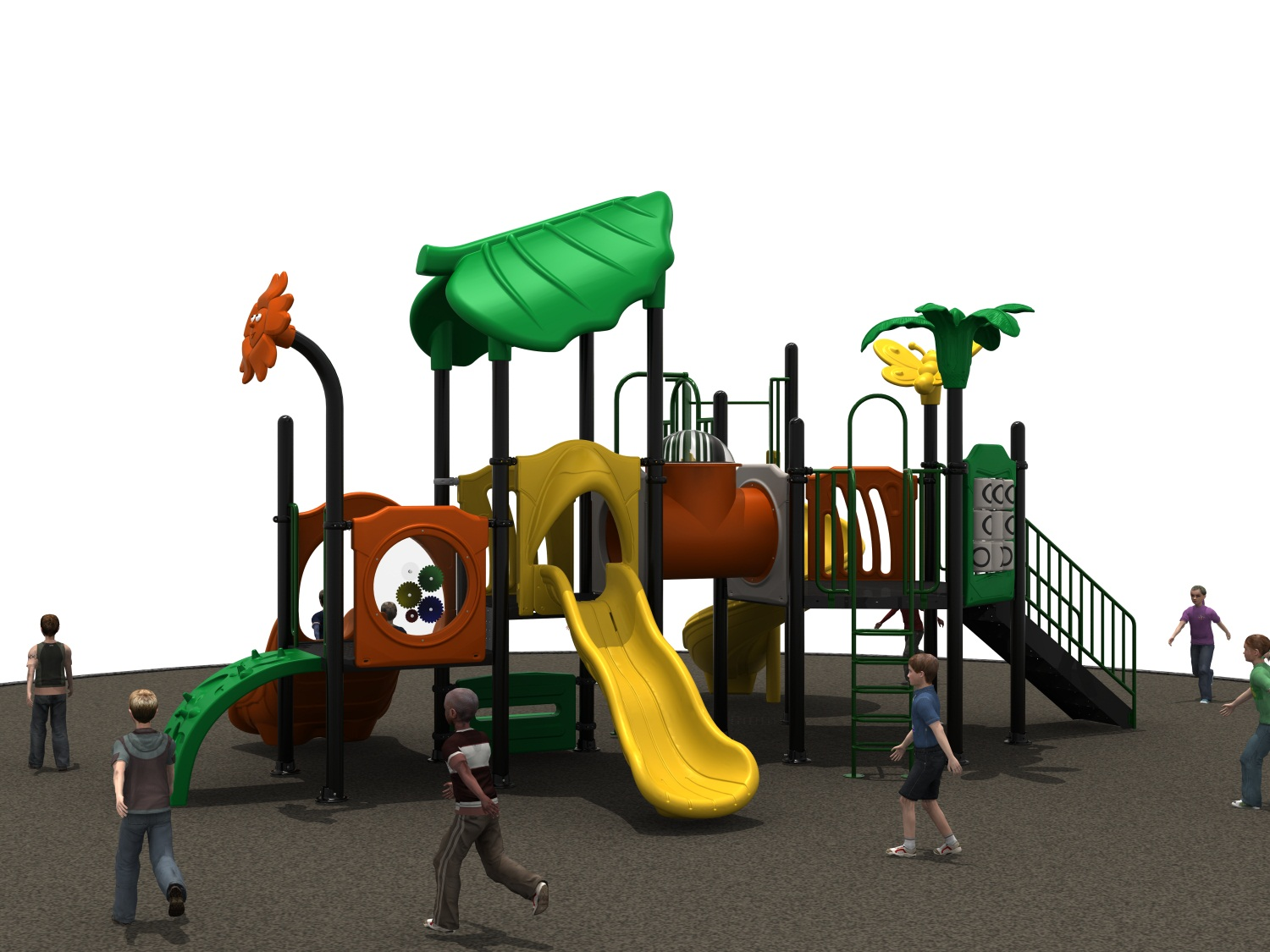 Europe Standard Plastic Outdoor Playground