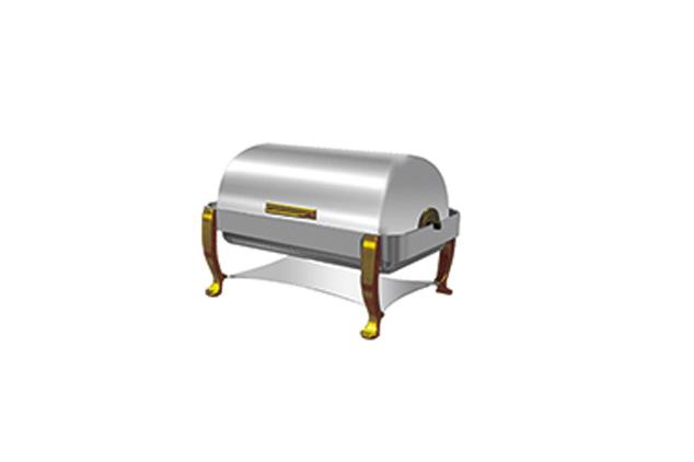 全翻蓋鍍金單格自助餐爐