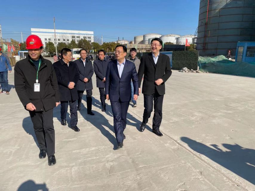 靖江市委书记张长平一行考察调研道道全靖江项目