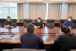 天寧區區長許小波一行調研公司外貿業務工作