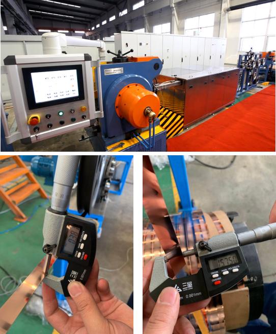 ?我公司成功為美國Copper weld公司開發了薄銅帶連續擠壓成套設備