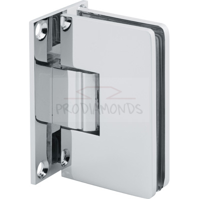 Square Round Corner Economy Shower Hinge Wall Mount Full Back Plate glass door Hinge