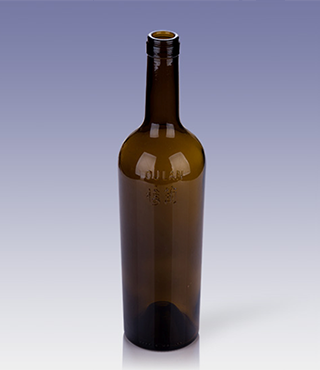 770ml brown bordeaux bottle