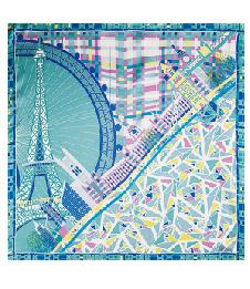 2-2中方巾-20摩登城市綠色16姆米