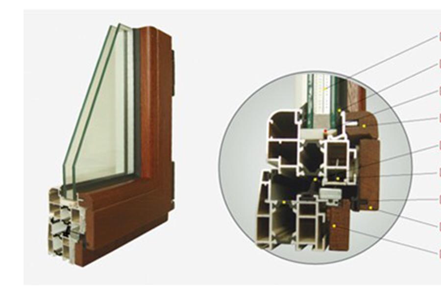 集成材木包铝门窗