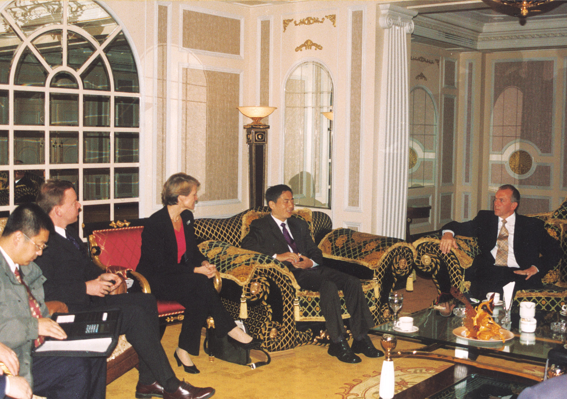 President Bin Chen meeting with the British Prime Minister's assistant, Jeff Moore