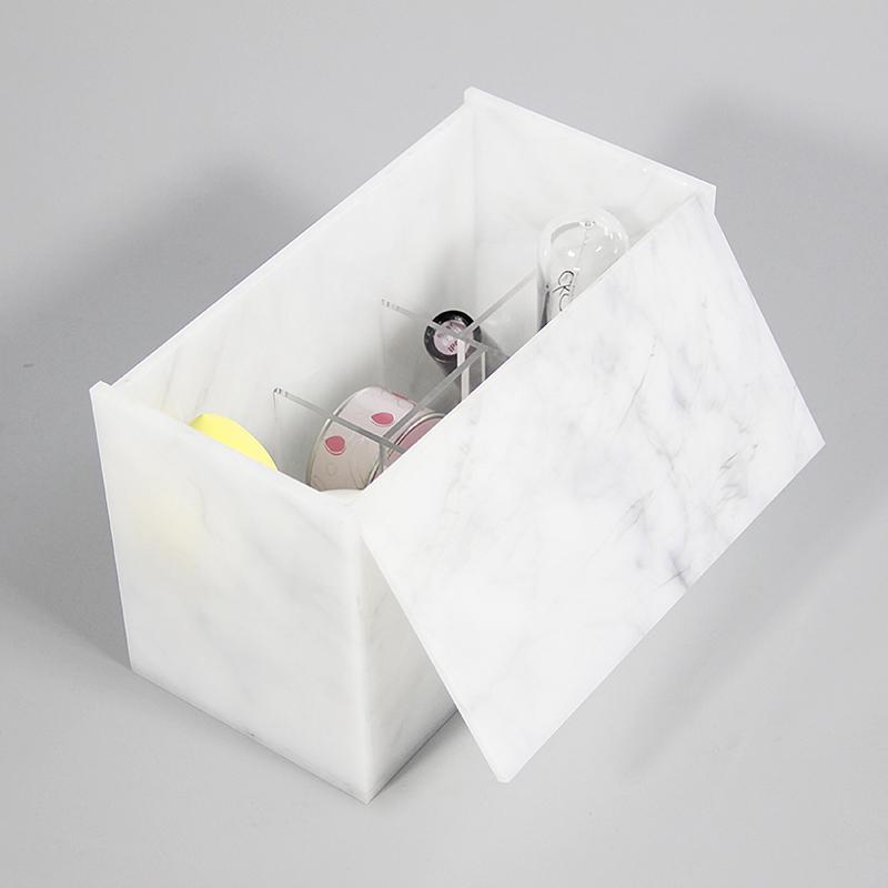 白色收納盒化妝品定制亞克力制品