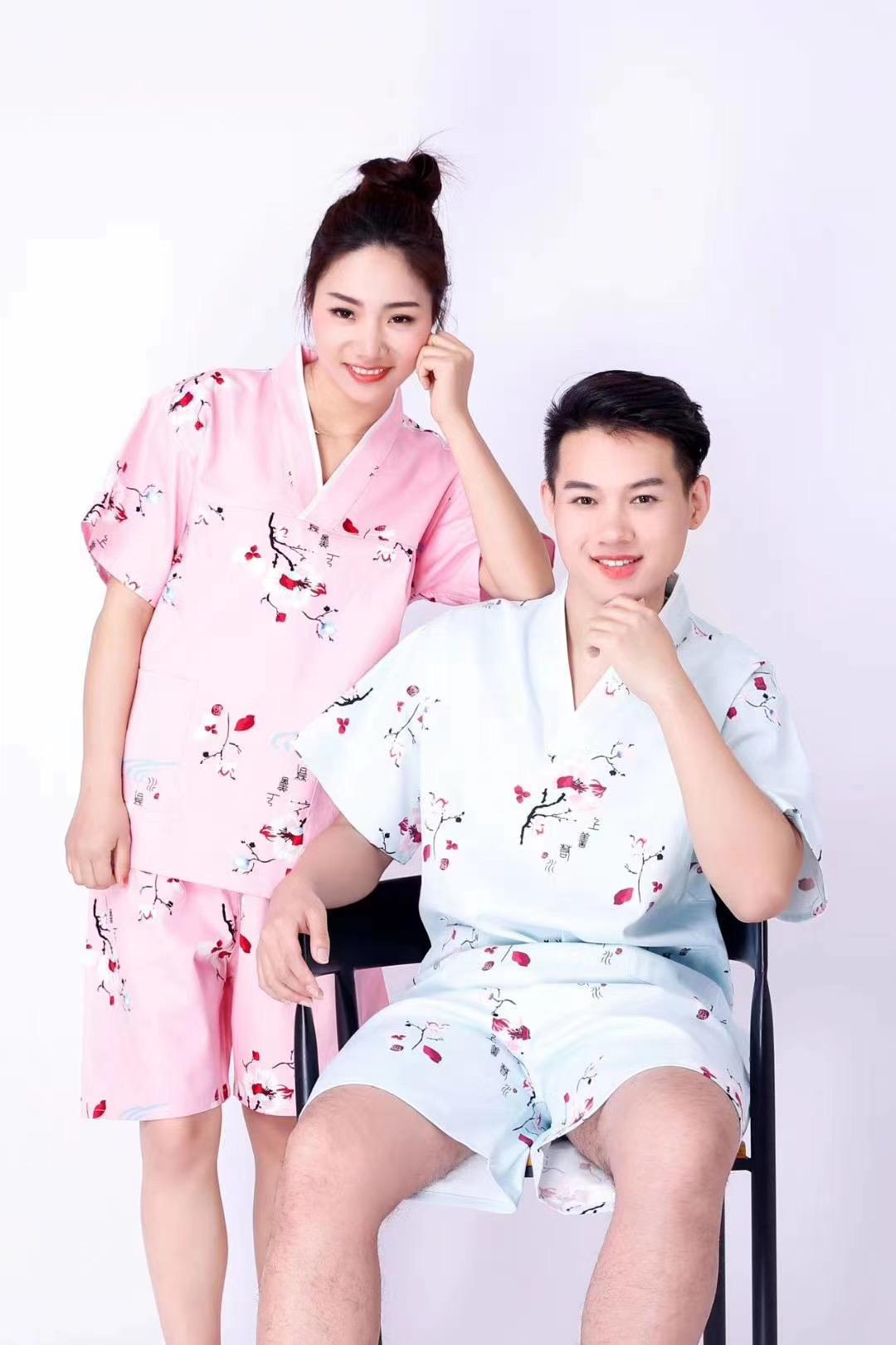 君芝友酒店用品純棉浴袍 酒店用彩色印花睡衣 五星級酒店全棉浴服產品展示
