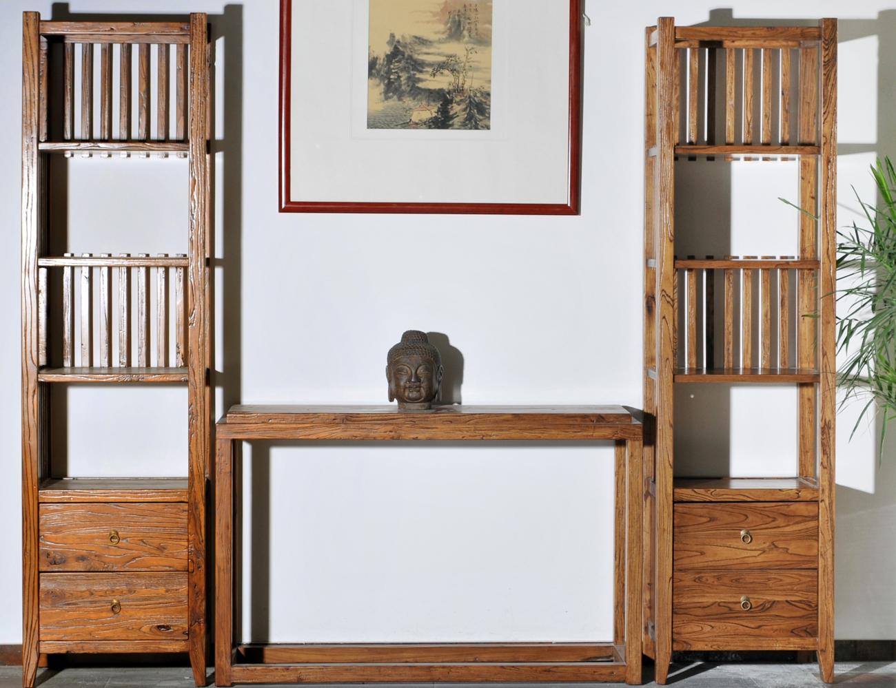 老榆木榫卯---客厅