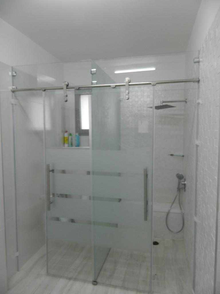 Frameless Shower Sliding System