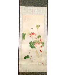 14-5-03清—吳應貞—荷花圖(彩�。�