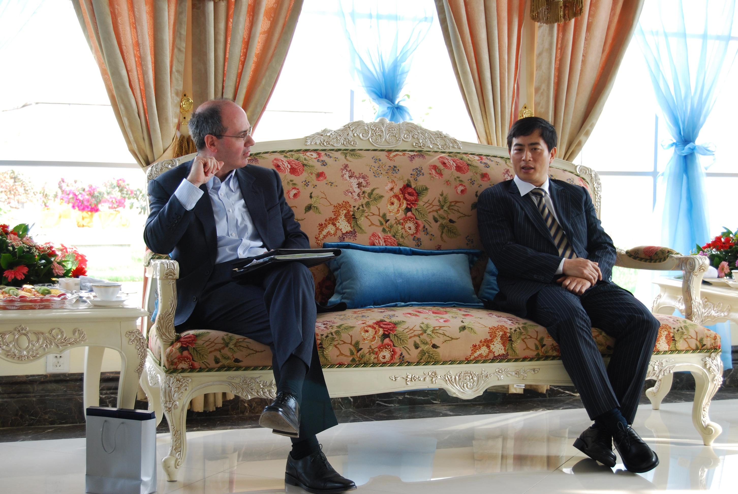 2009年陈总裁会见聚贤社与欧洲最大私募股权投资公司Bridgepoint高层拜访团
