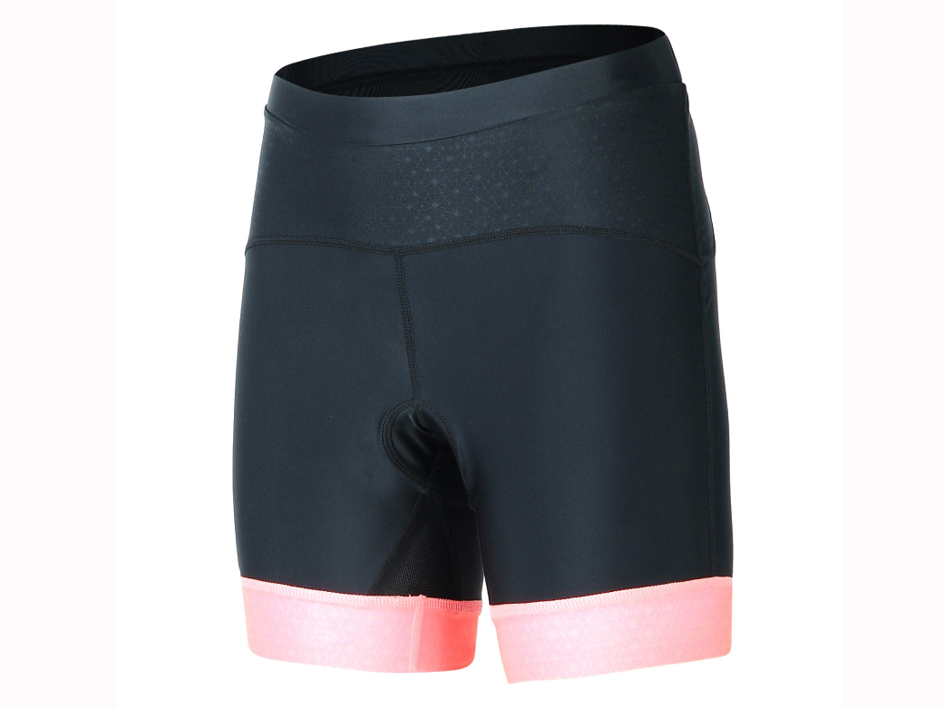 Women's knitted cycling short with pad