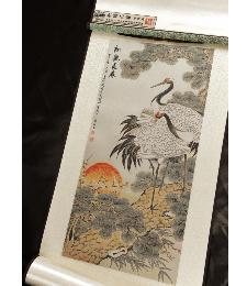 14-4-02松鹤长春(織錦畫)