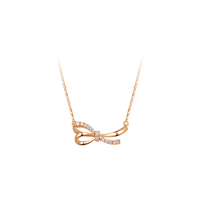 18K Rose Gold Butterfly Chain