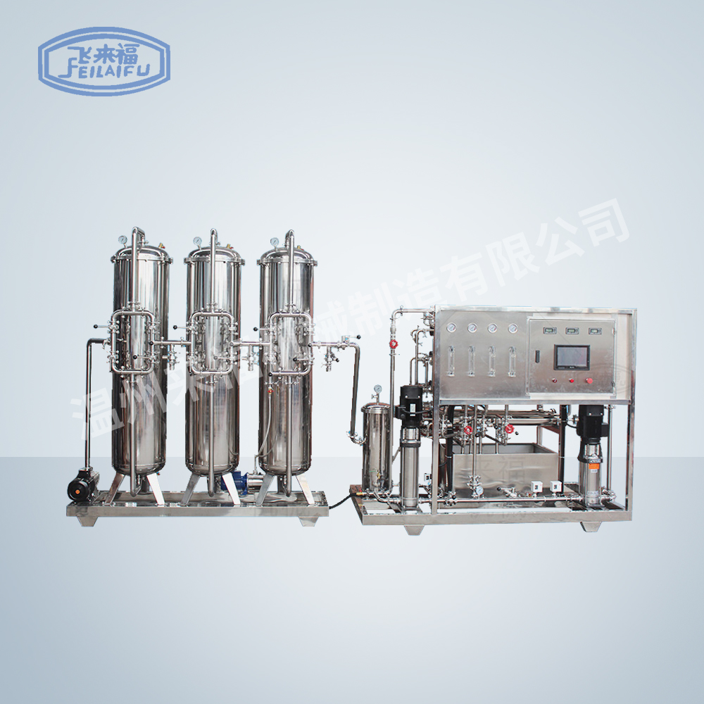 1 ton two-stage reverse osmosis water treatment