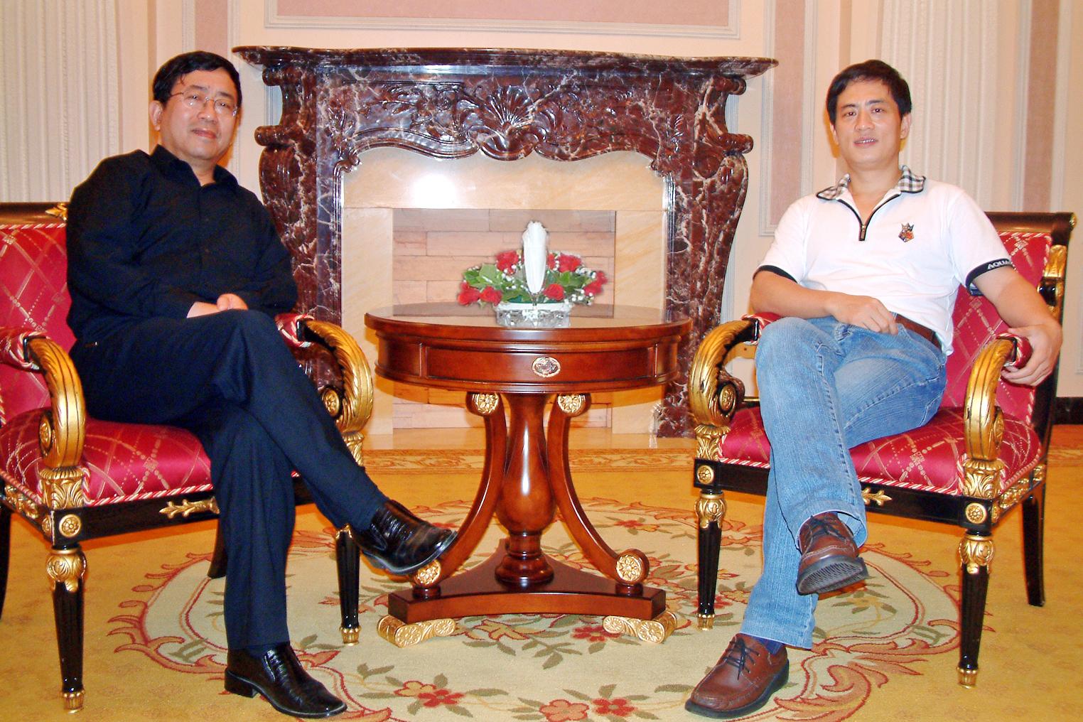 陈斌总裁会晤著名作家余秋雨先生