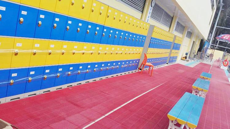 奧龍堡游泳館防水塑料更衣柜