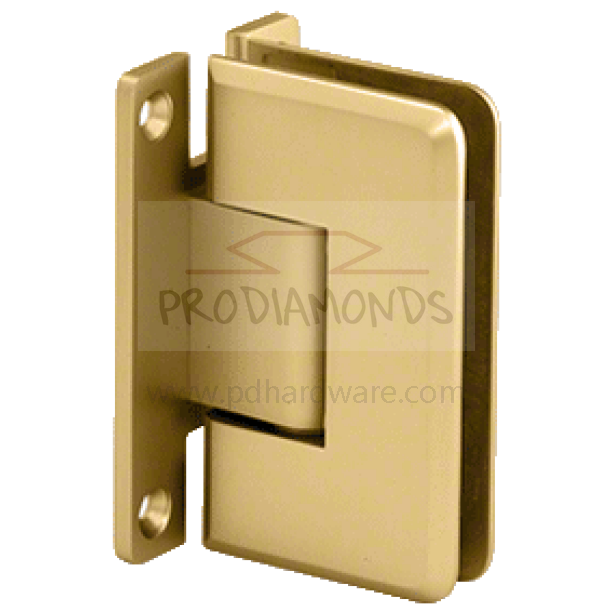 Heavy Duty Beveled Edges Wall Mount  H Back Plate Shower Door Hinge