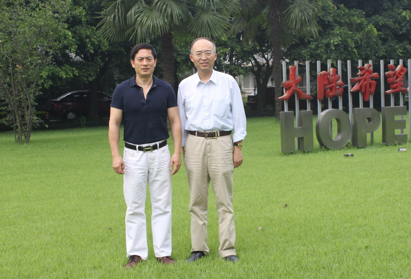 A photo with Pan Wu, the executive vice president of Peking University