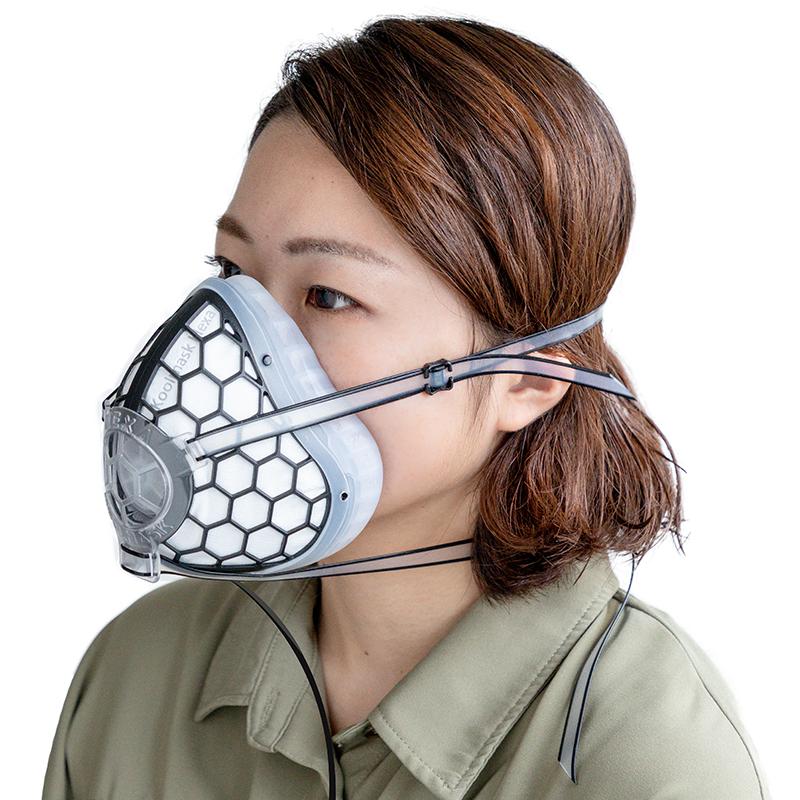 Qurra 電動口罩5層過濾 呼吸純凈空氣 3R-DMK01