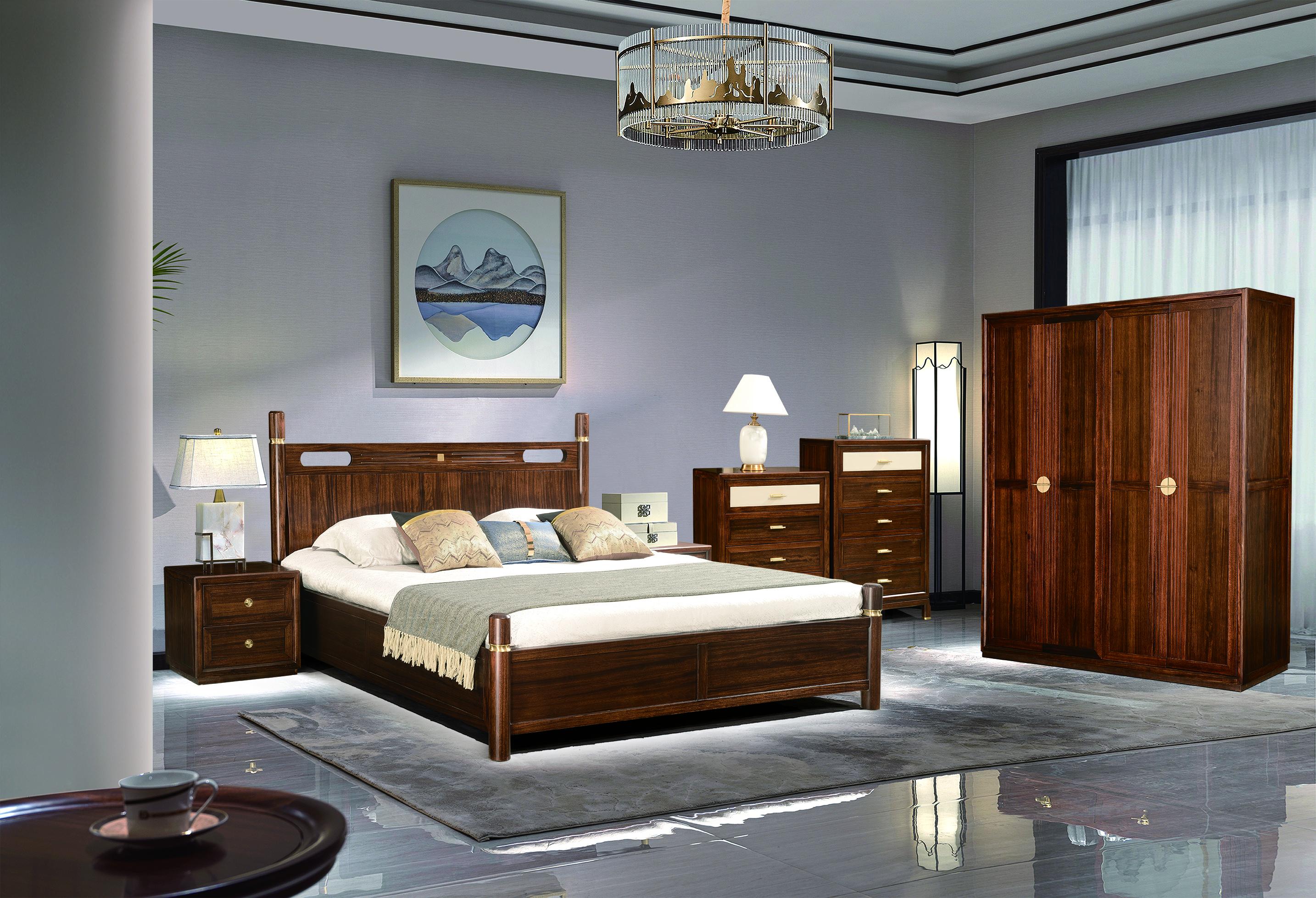 乌金木和熙系列卧室系列实木床