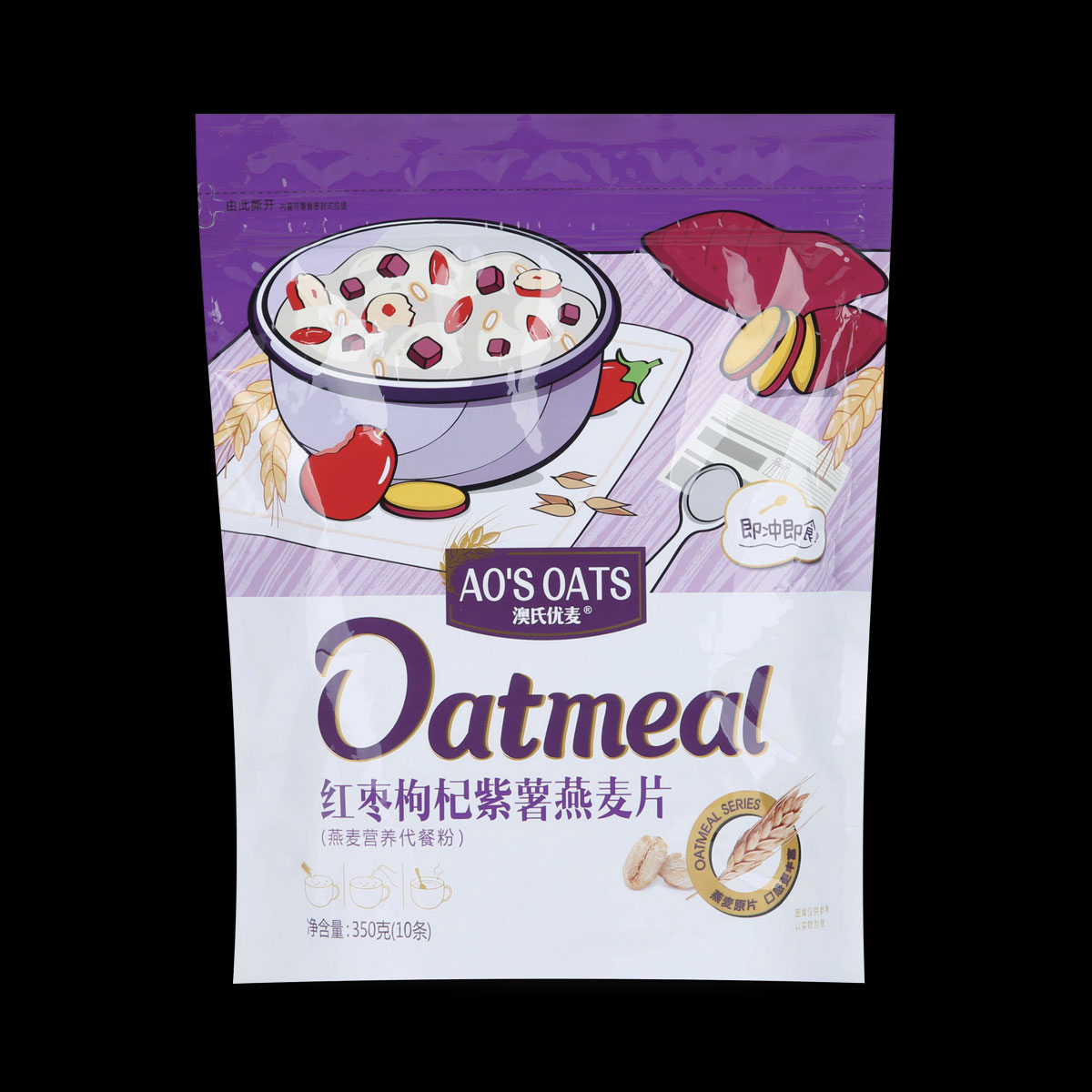 紅棗枸杞紫薯燕麥片