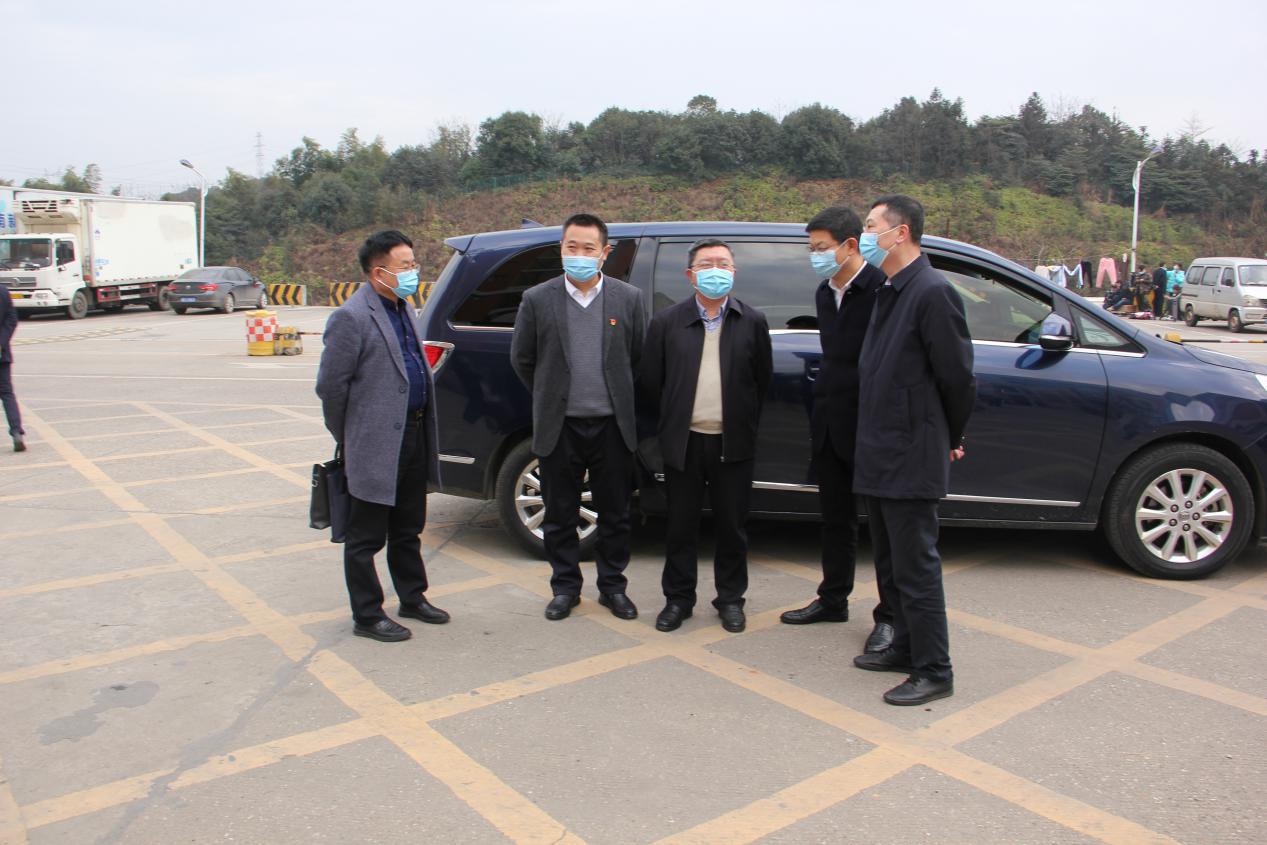 嚴把冷鏈生產安全關質量關——省國資委一級巡視員盧光祖一行前往廣聯公司督查疫情防控、生產安全工作