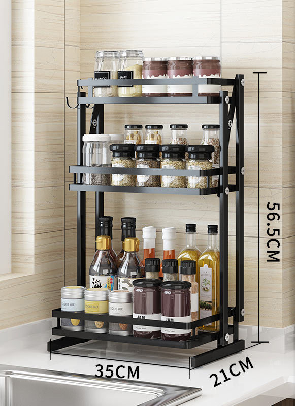 S.S collapsible spice rack