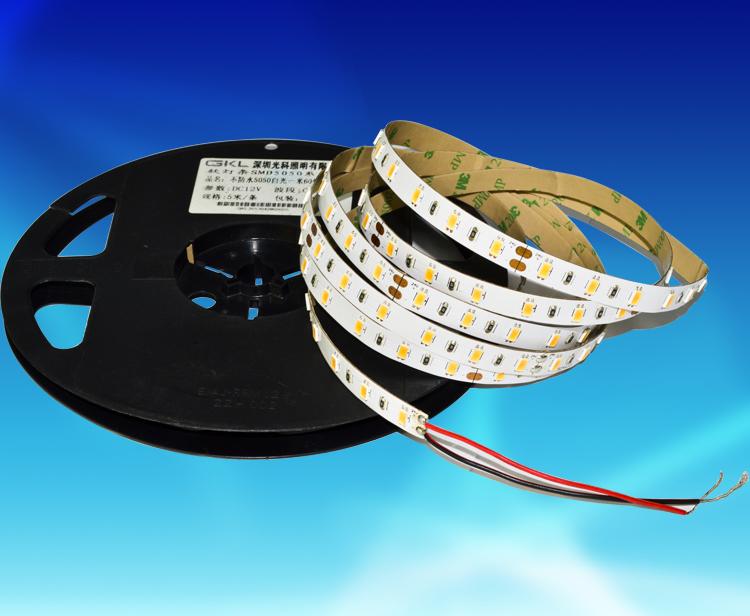 FAW012A,10*5000mm貼片5730一米60燈不防水裸板燈帶DC12V