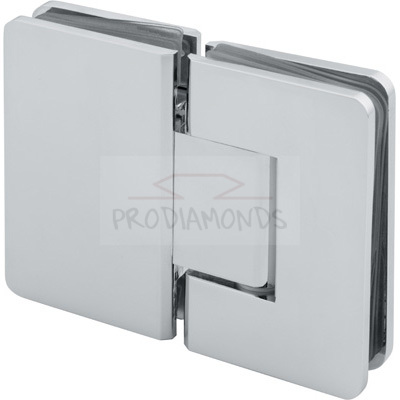 Square Round Corner Economy Shower Hinge 180 Degree Glass to Glass