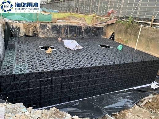 廣州_棠下新墟安置房雨水收集利用系統模塊水池項目工程