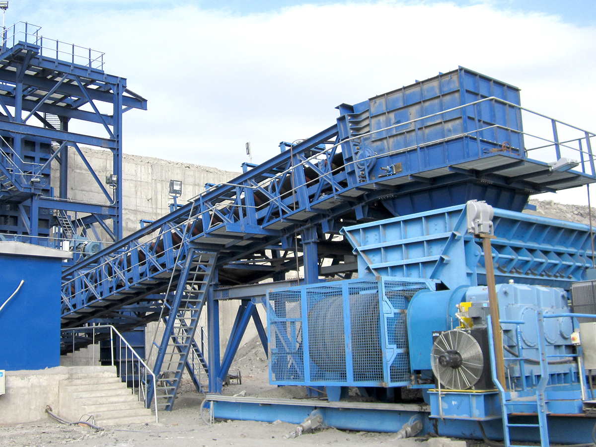 Discharge belt conveyor for Crushing station